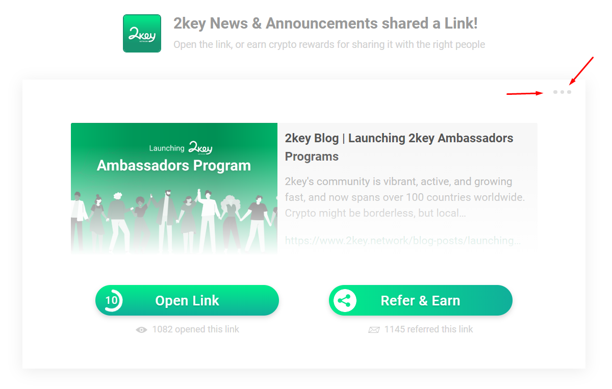 SmartLink Preview Page, and where to click to access the feedback interface